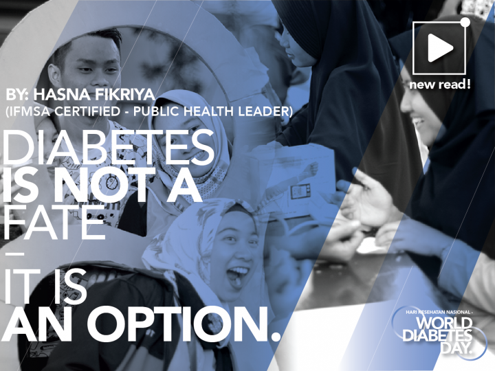 DIABETES IS NOT A FATE, IT'S AN OPTION