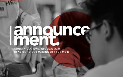 ANNOUNCEMENT NPC 2020-2021