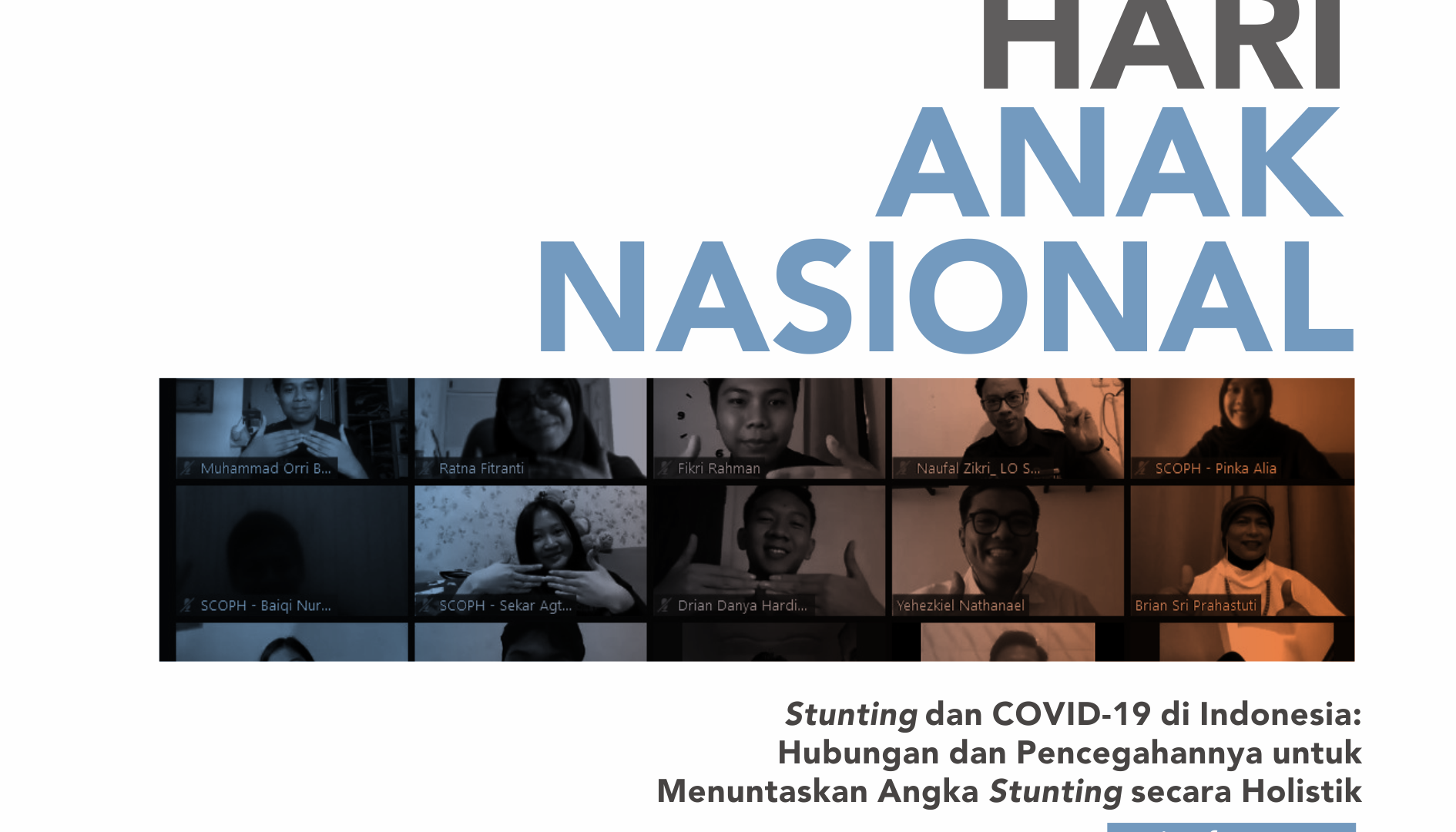 [WEBINAR HAN 2020: STUNTING DAN COVID-19 DI INDONESIA]