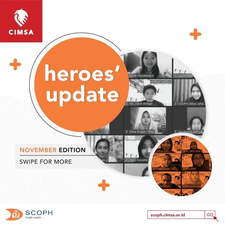 [HEROES' UPDATE: NOVEMBER EDITION]